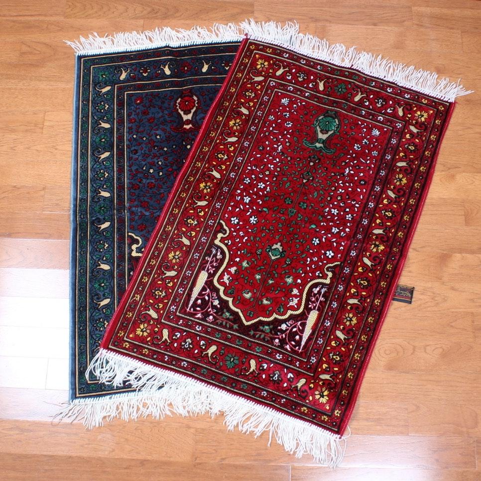 Pair Of Power Loomed Turkish Prayer Rugs Ebth
