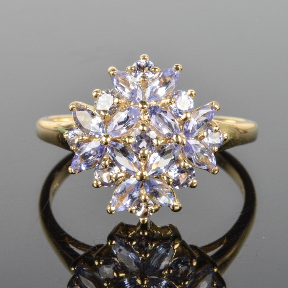 14k yellow gold tanzanite ring ebth