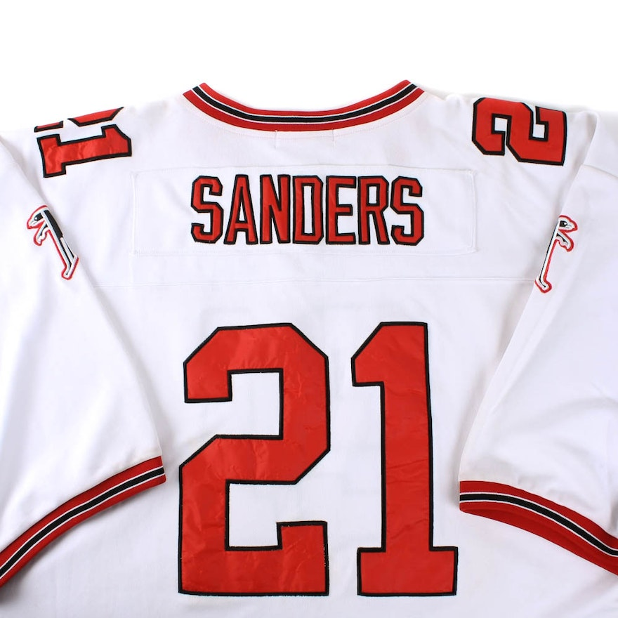 pretty nice a6551 e3708 Deion Sanders Throwback Falcons Jersey