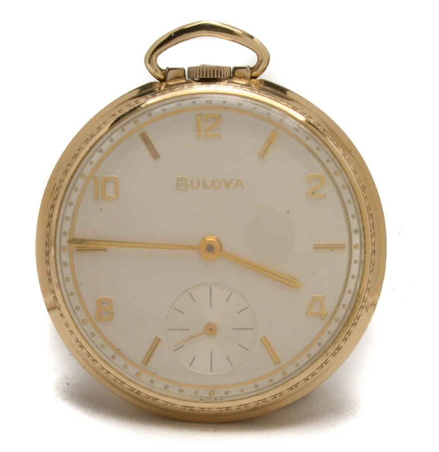 Vintage 10K Rolled Gold Plate Bulova Pocket Watch : EBTH