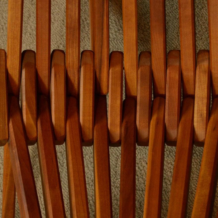 Folding Cedar Kentucky Stick Chair And Footrest Ebth