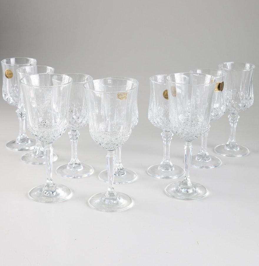 cristal d 39 arques crystal wine glasses ebth. Black Bedroom Furniture Sets. Home Design Ideas