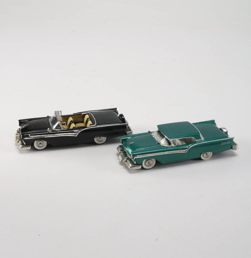 Pair Of Brooklin Models 1957 Ford Skyliner Model Cars Ebth
