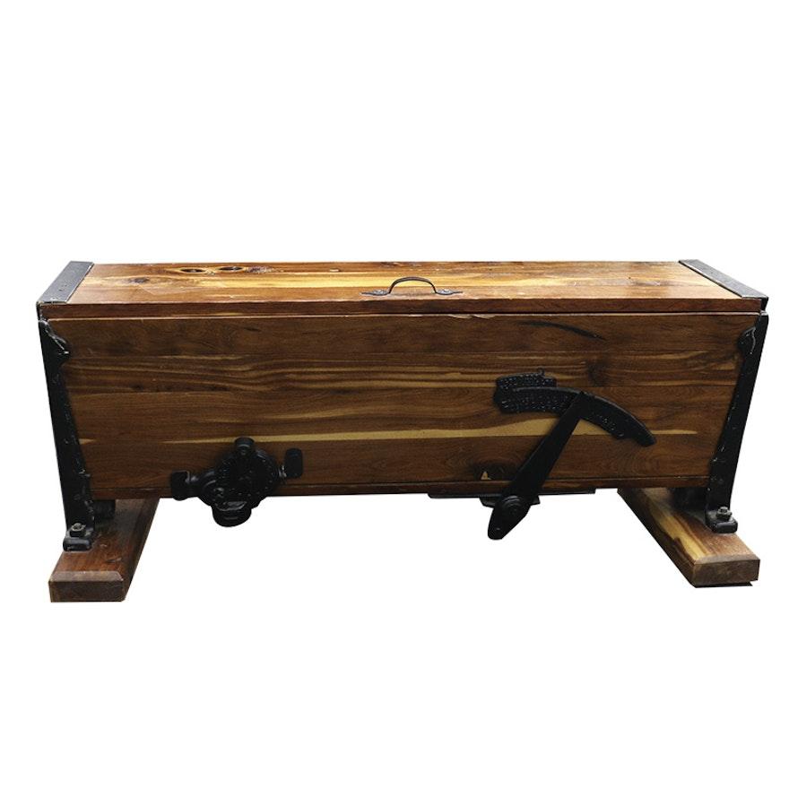Prime Rustic Cedar Storage Bench Machost Co Dining Chair Design Ideas Machostcouk