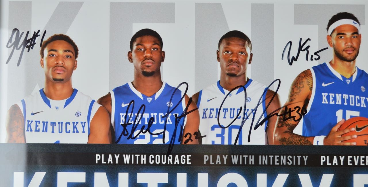 University Of Kentucky Basketball 2013 2014 Framed McDonald's Post...