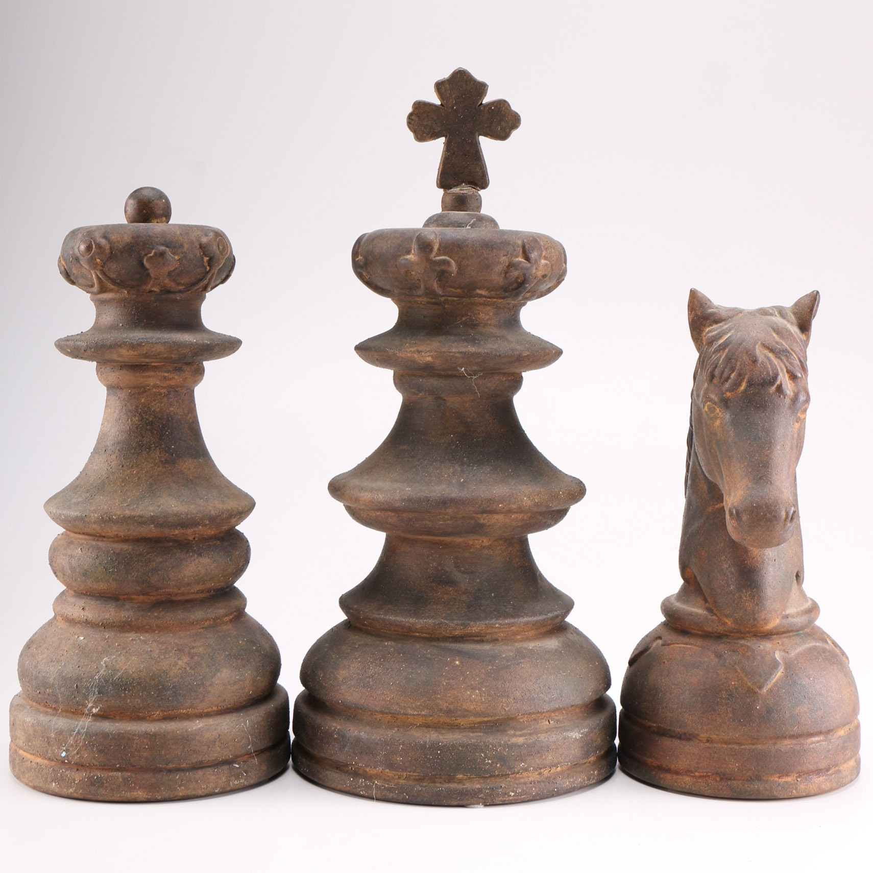 Group Of Oversized Decorative Chess Pieces Ebth
