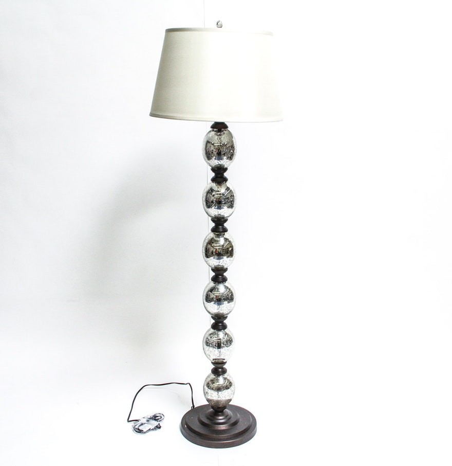 contemporary mercury glass bulb floor lamp ebth. Black Bedroom Furniture Sets. Home Design Ideas
