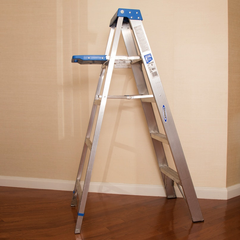 Six Foot Ladder With Stepstools Ebth
