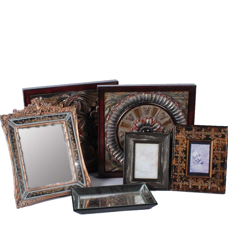 Faux Picture Frames On Walls : Decorative wooden wall plaques and picture frames ebth
