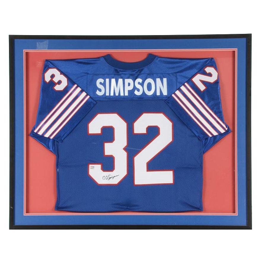 size 40 62eb9 ba6f5 (HOF) O.J. Simpson Signed Buffalo Bills NFL Football Jersey In Case PSA/DNA  COA