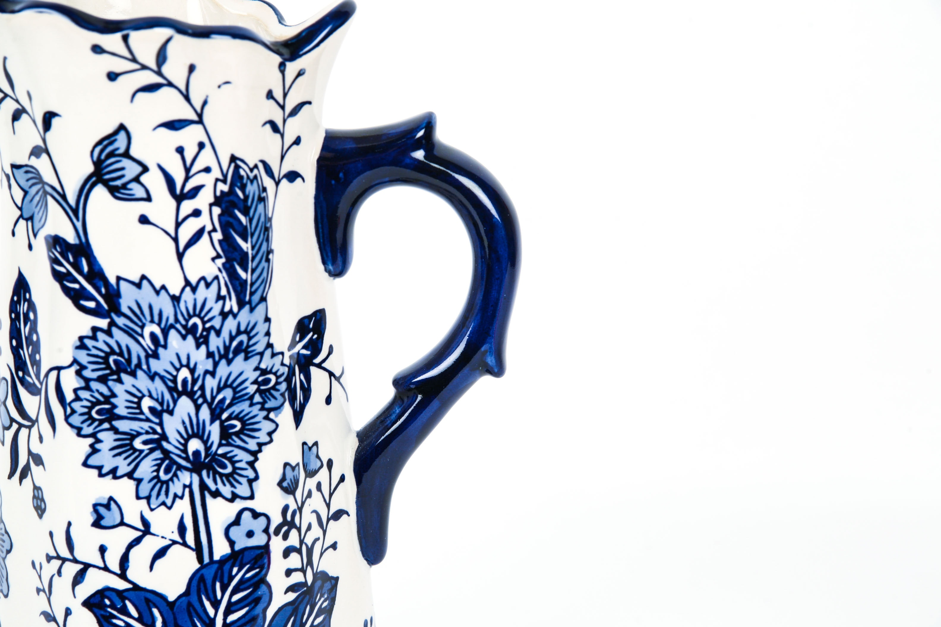 Chinese Blue And White Pitcher Ebth
