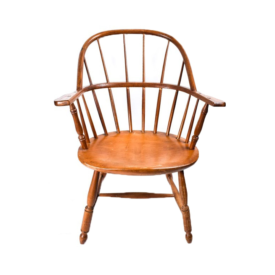 Antique Windsor Captain's Chair ... - Antique Windsor Captain's Chair : EBTH