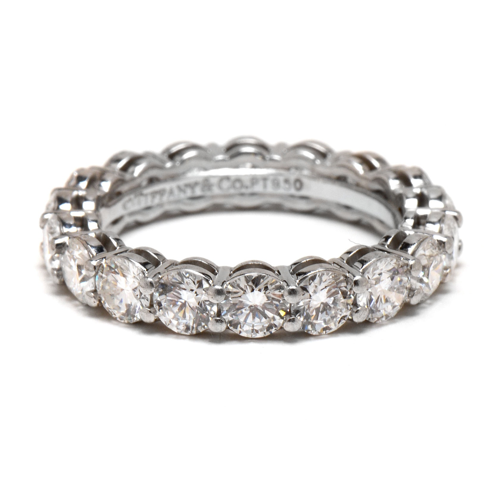 Tiffany & Co. Platinum and Diamond Eternity Band with 2.88 CTW in Diamonds