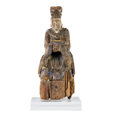 Antique Chinese Temple Figure Carving