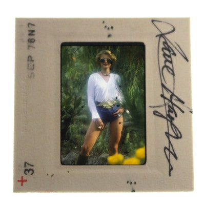 """Signed 1976 Original 35mm Slide of """"Penthouse Pet"""" Jane Hargrave"""