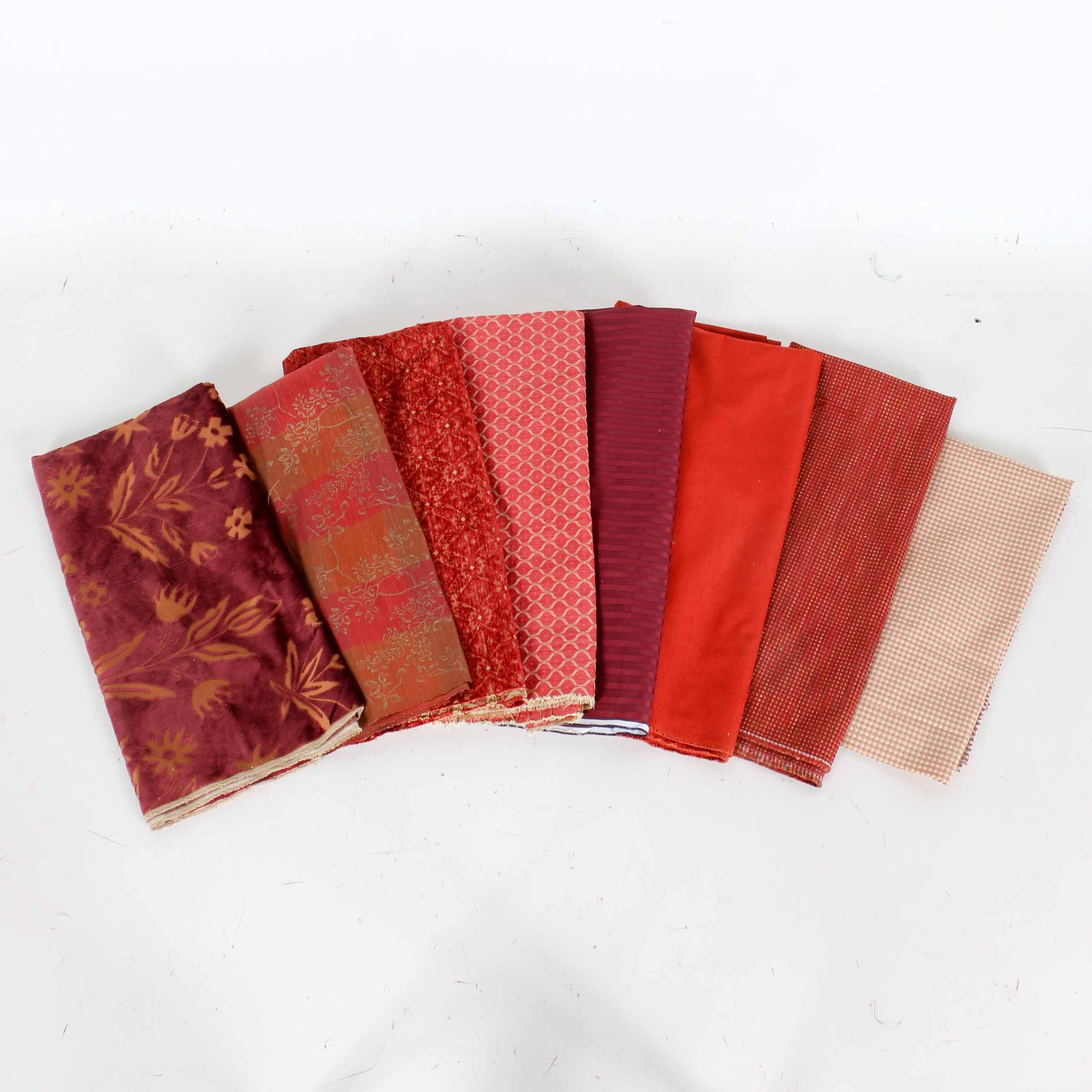 Assortment Of Upholstery And Other Fabrics Ebth