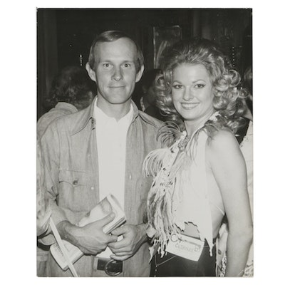 1973 Peter Borsari Photo of Tommy Smothers with Patricia Barrett