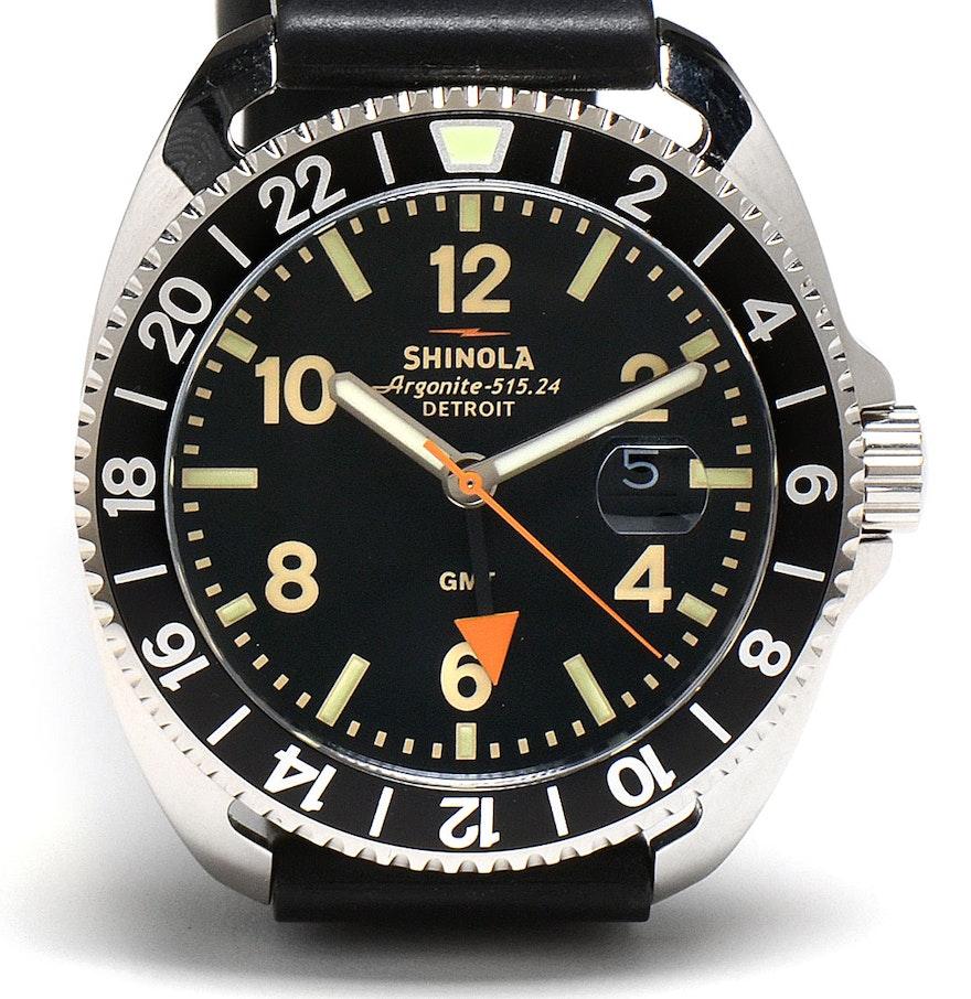 Men 39 s shinola of detroit argonite wristwatch in case ebth for Argonite watches