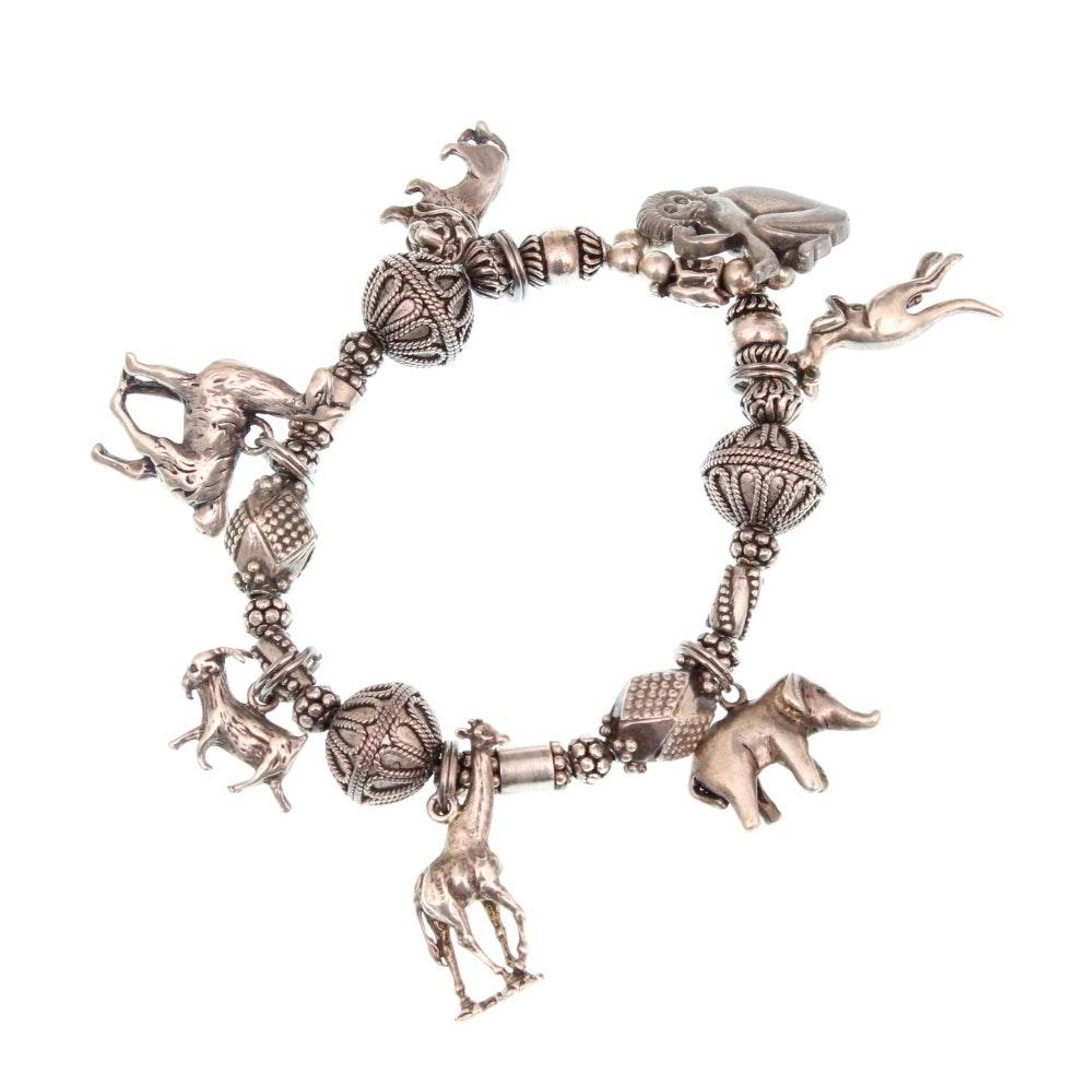 sterling silver animal charm bracelet ebth
