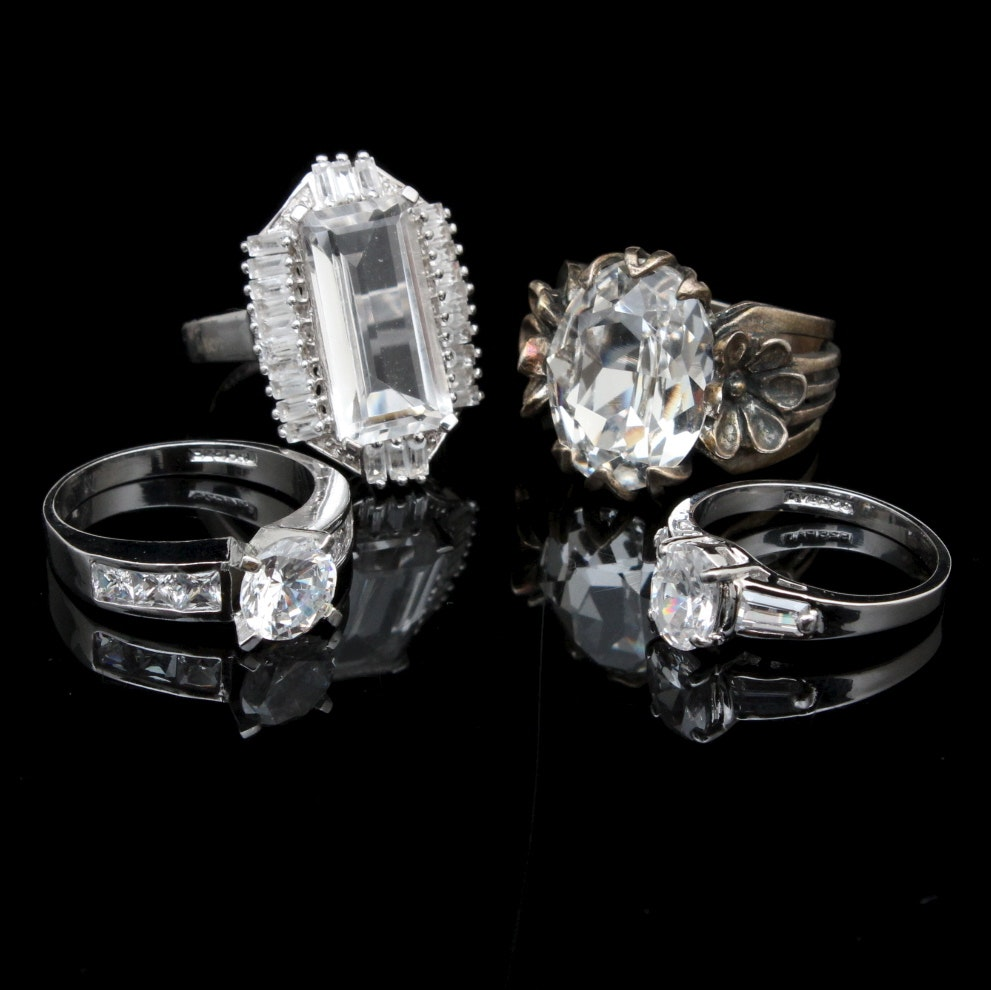 sterling silver costume ring assortment ebth