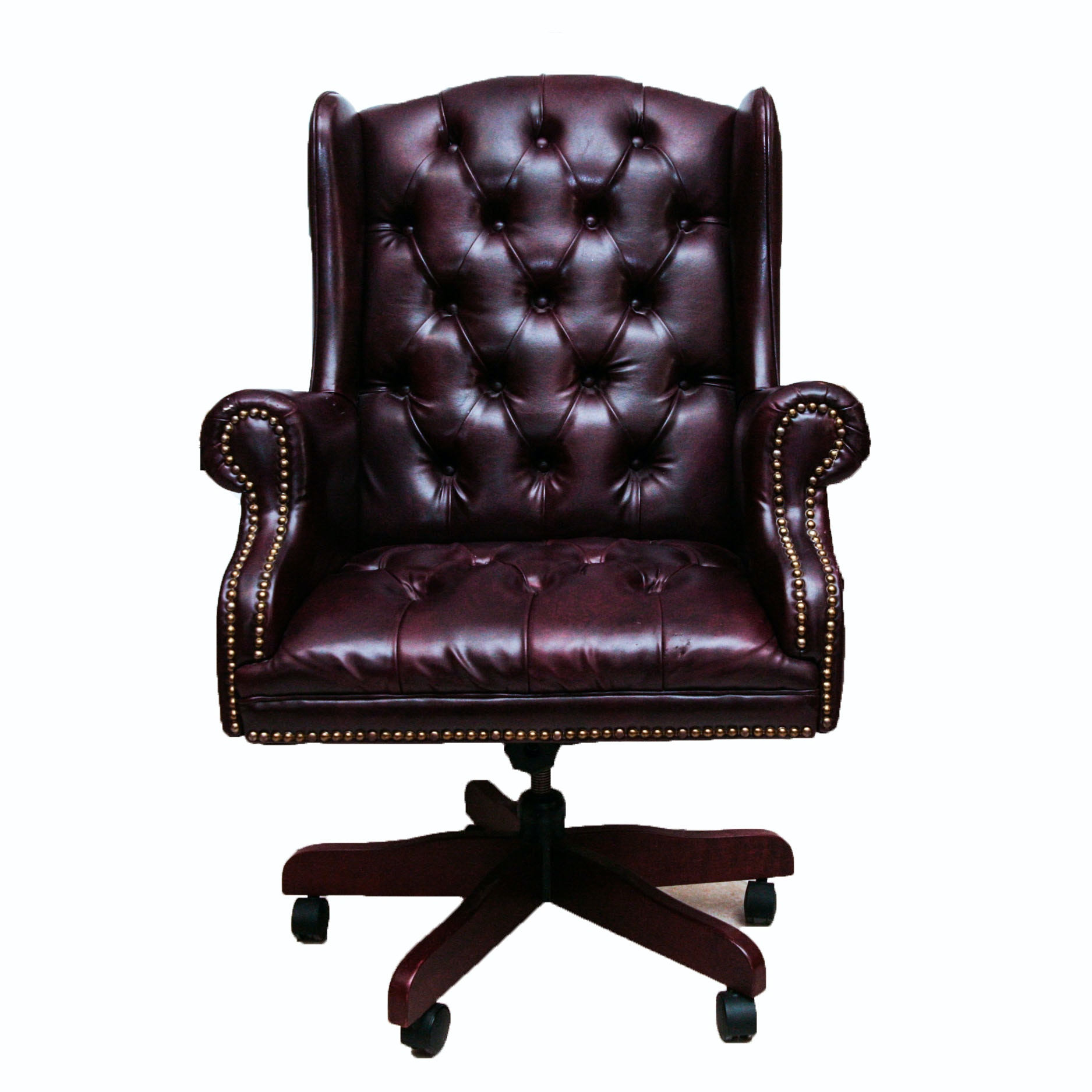 Faux Leather Wingback fice Chair EBTH