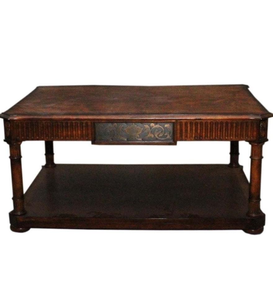 Wood Coffee Table With Bottom Shelf Ebth