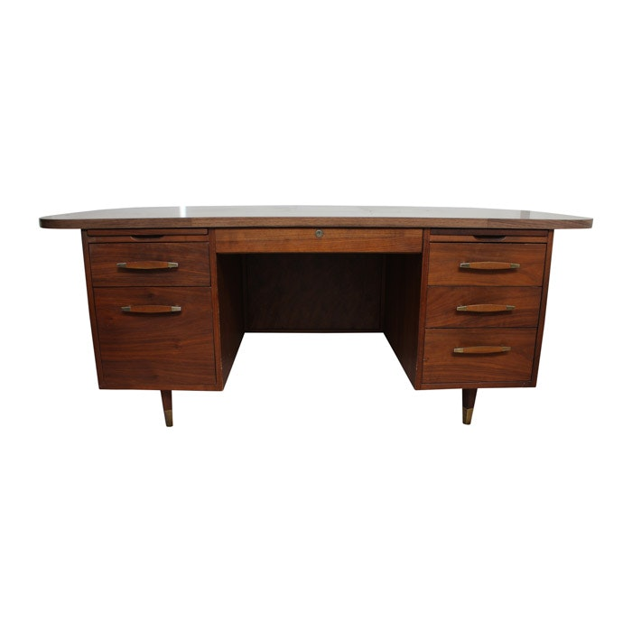 Large Midcentury Wooden Desk  Ebth. Laptop Computer Desk Stand. Used Brunswick Pool Table. Desk With Secret Compartments. Proline Ms112 Desk Boom Mic Stand. 4 Drawer Storage Chest. Drawer Organization Ideas. Frigidaire Replacement Drawer. 2 Drawer Side Table