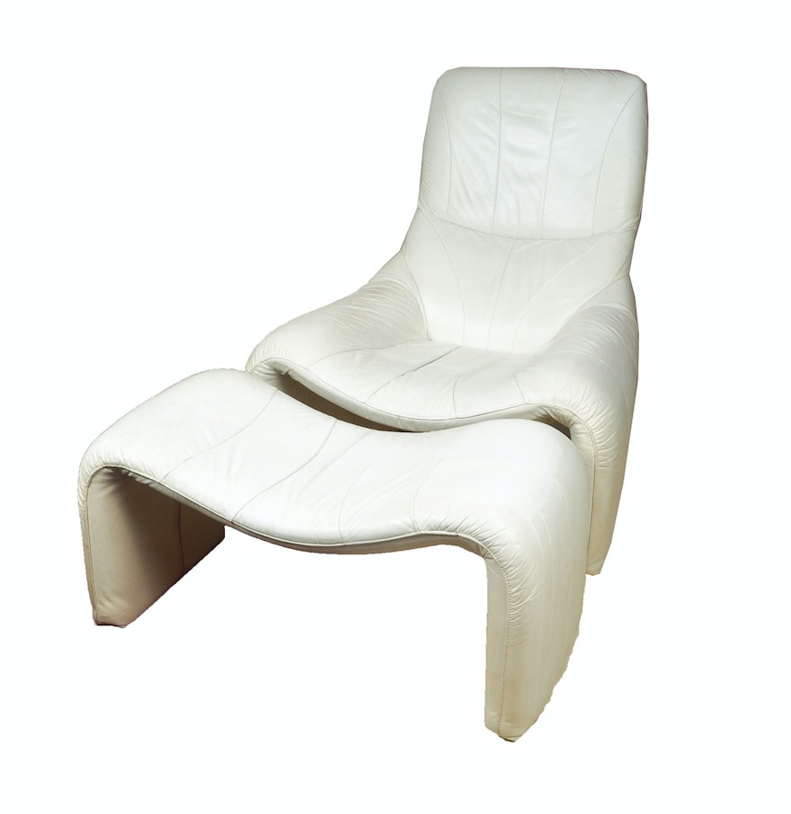 white leather chair and footstool contemporary white leather chair and ottoman ebth 21977 | C010075 Edit 2.jpg?ixlib=rb 1.1