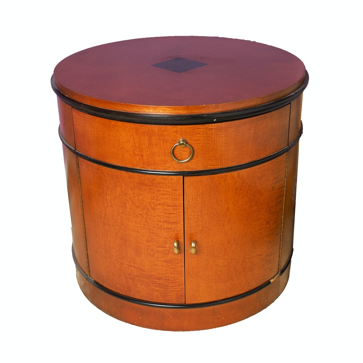 National Mt. Airy Biedermeier Drum Nightstand