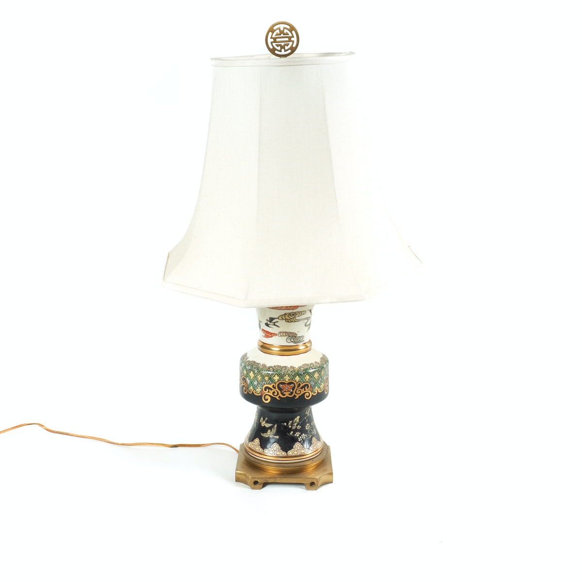 Porcelain and Brass Table Lamp