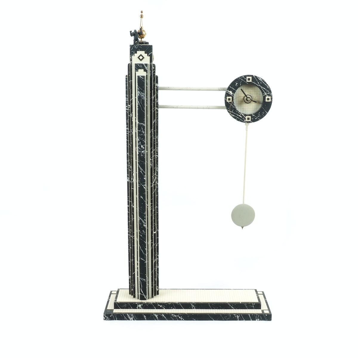 King Kong Empire State Building Clock Sculpture