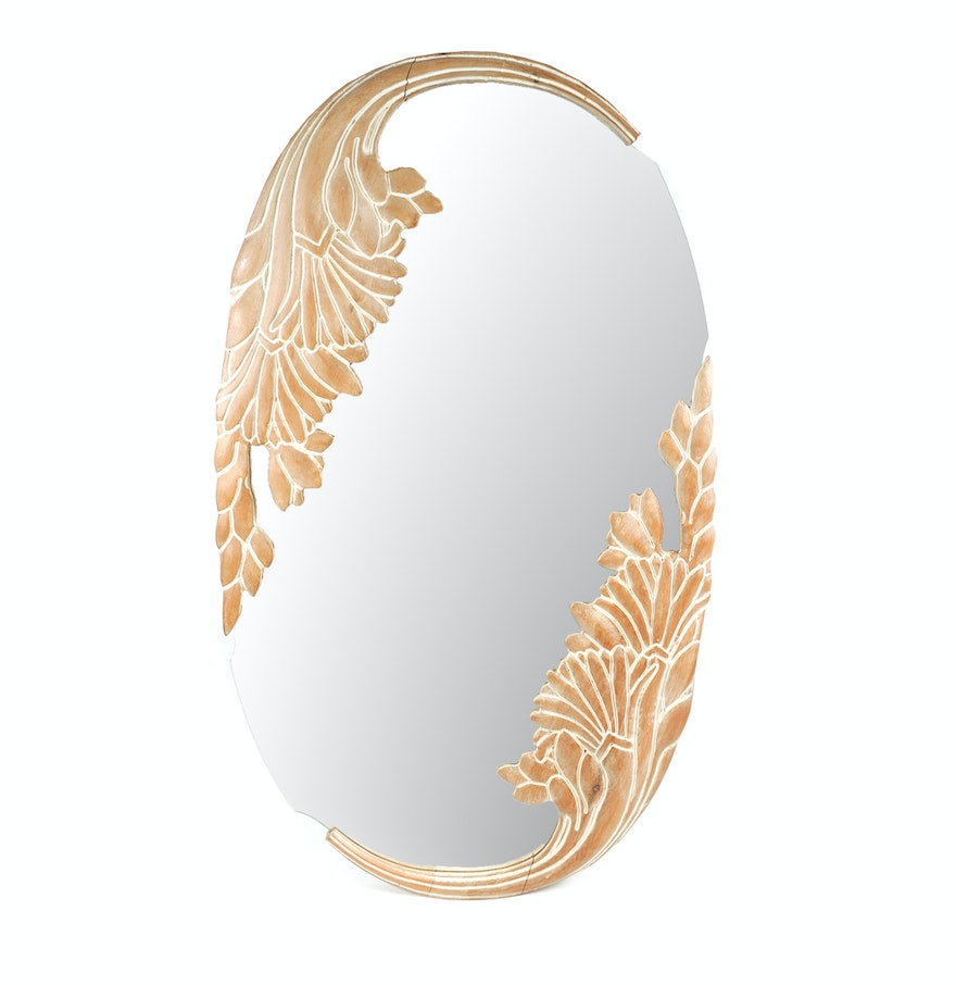 Decorative oval wall mirror ebth for Fancy oval mirror