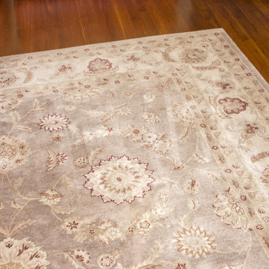 """Tufted Indo Persian Wool Area Rug Ebth: Tufted Nourison Machine Made """"Heritage Hall"""" Wool Area Rug"""
