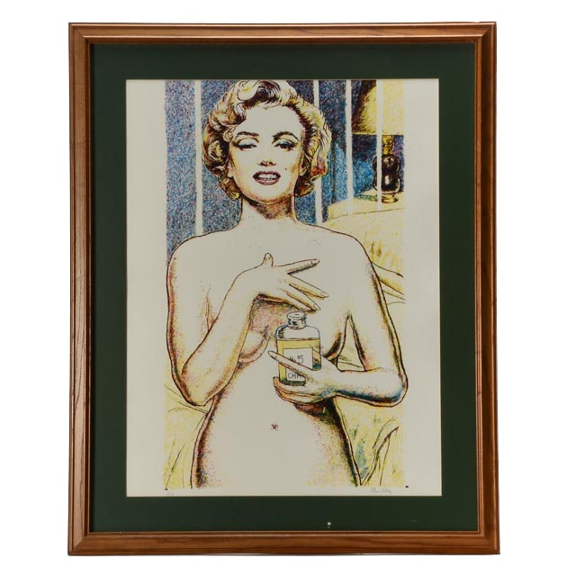 "Tom Lohre Original Limited Edition Serigraph ""Marilyn Monroe"""