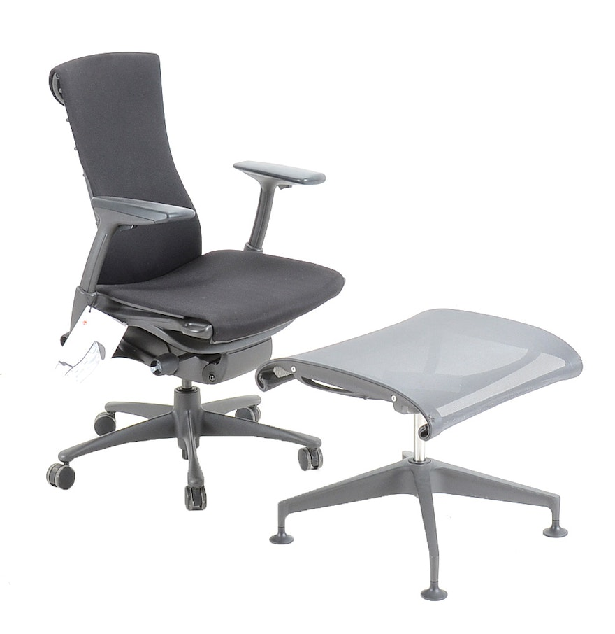 Herman Miller Embody Lounge Chair And Setu Ottoman