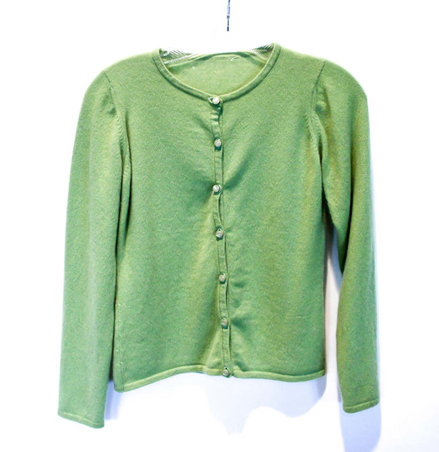 Lime Green Cashmere Sweater : EBTH