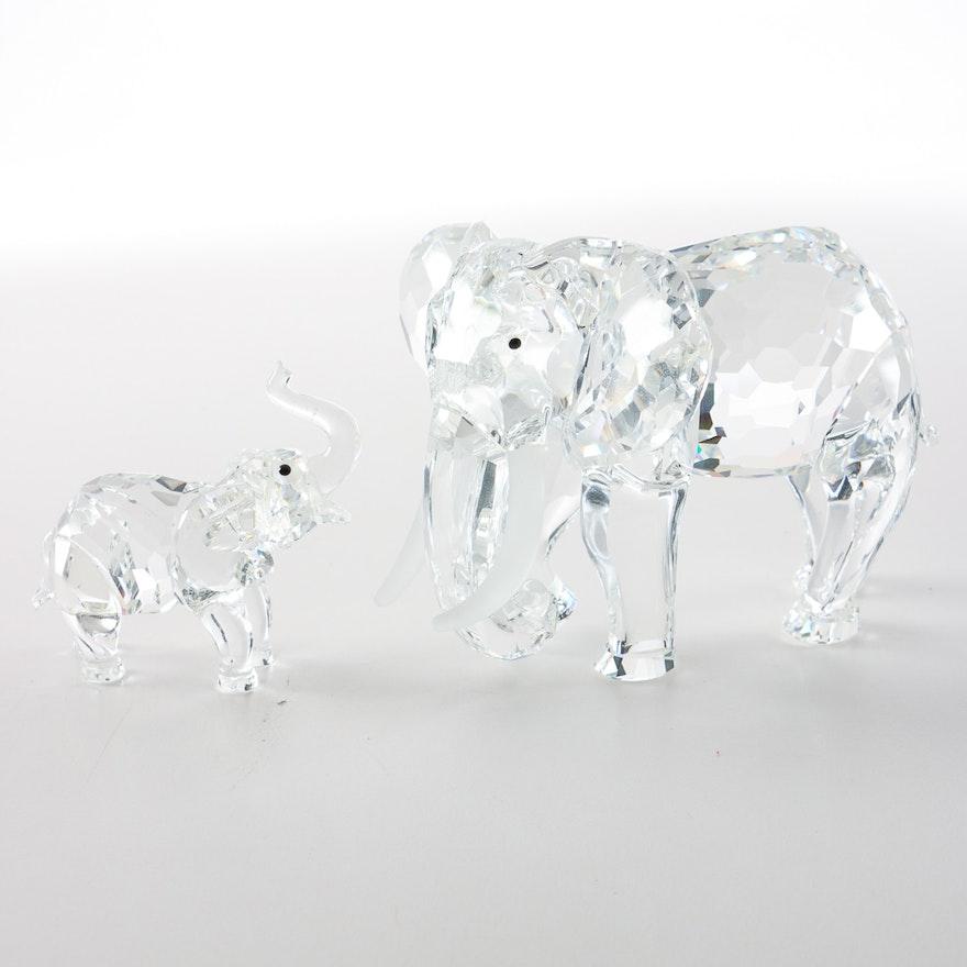 4e16d0600 Pair of Swarovski Crystal Elephant Figurines : EBTH