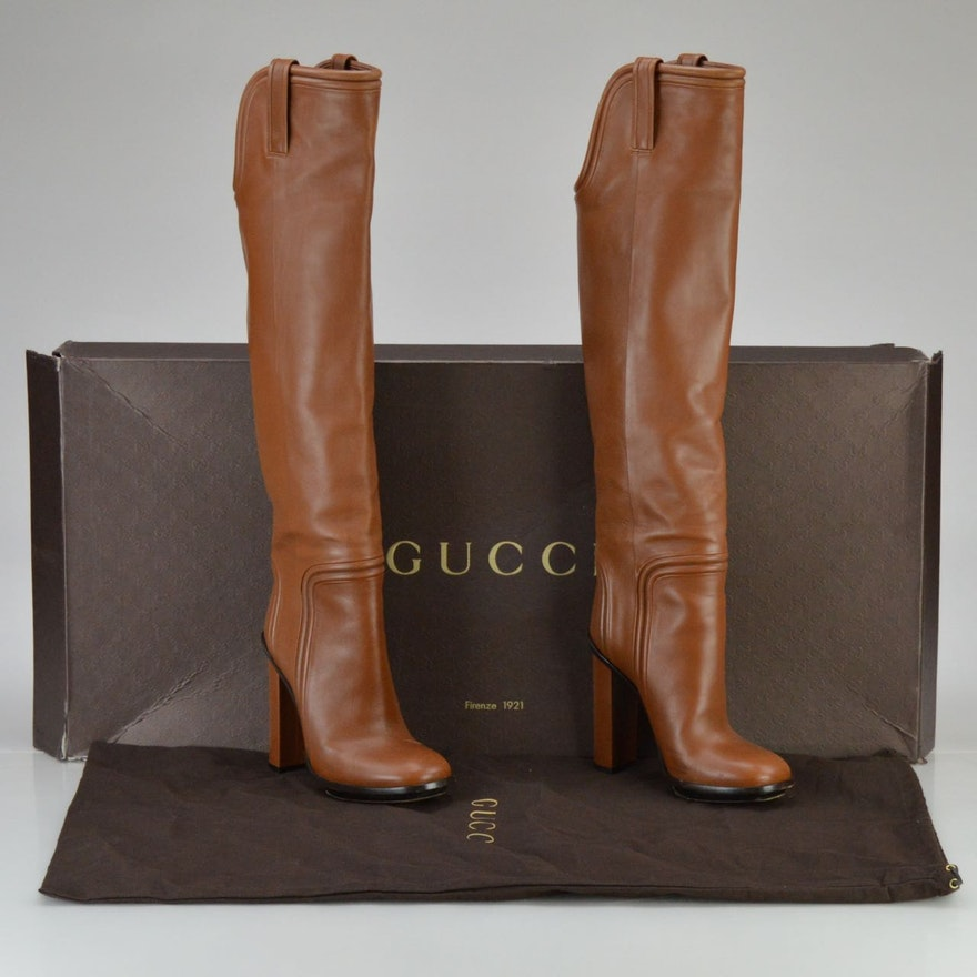 f0919483a8d Gucci Lifford Over-the-Knee Boots