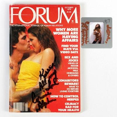 "Signed Corinne Alphen 35mm Slide and ""Forum"" Magazine"