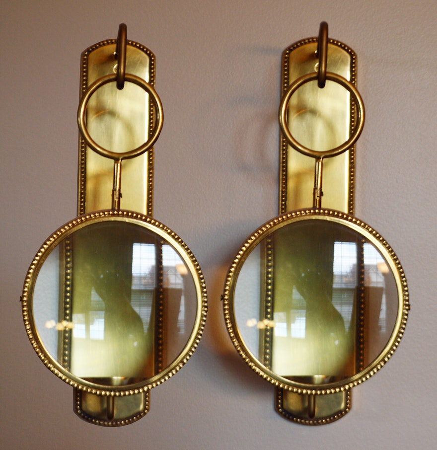 Wall Sconce With Magnifying Glass : Magnifying Wall Mount Candle Sconces : EBTH