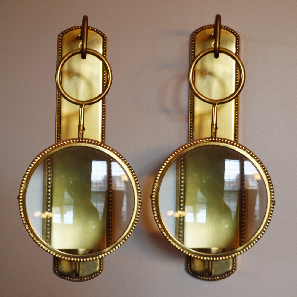 magnifying wall mount candle sconces