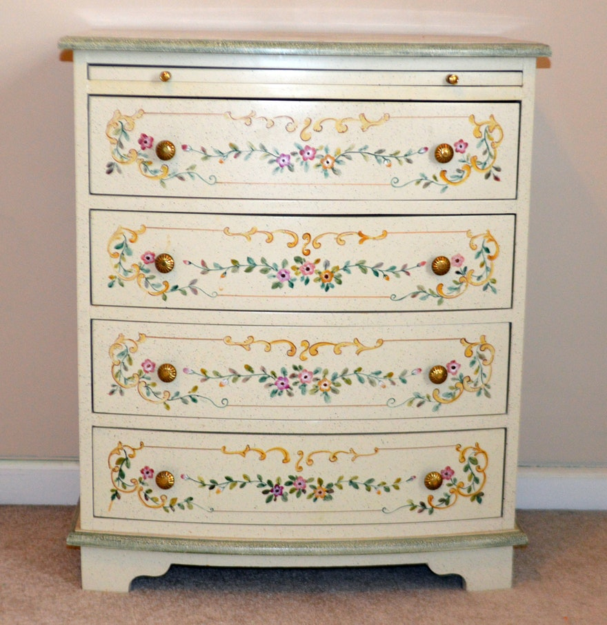 Hand painted chest of drawers ebth for Hand painted chests