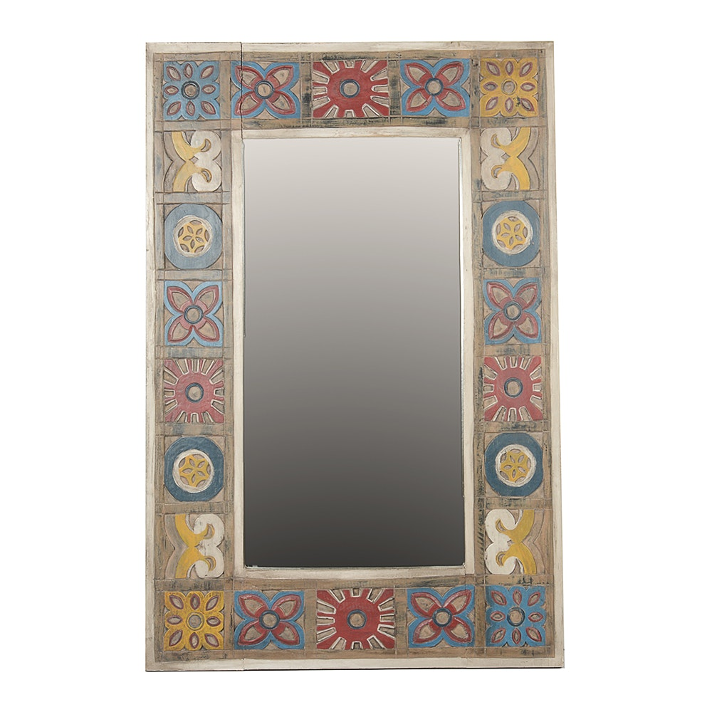 """Pier One Wall Mirrors pier 1 imports """"patchwork"""" wooden wall mirror : ebth"""