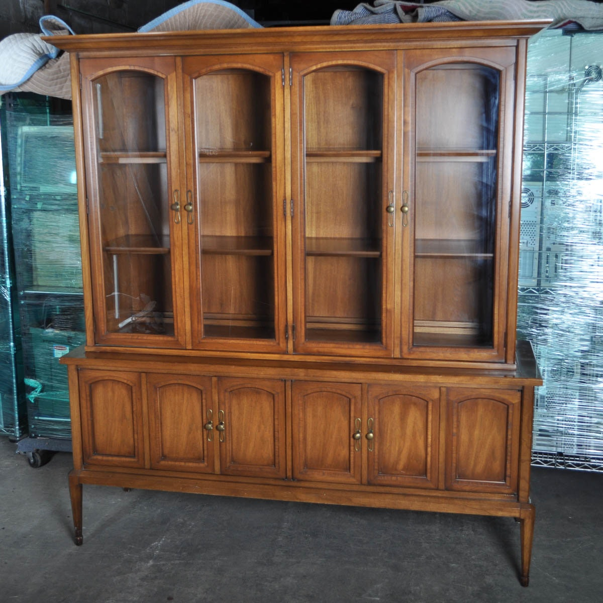 antique china cabinet vintage china cabinet by white furniture company ebth 10633