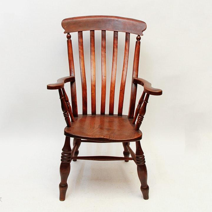 Vintage Wooden Kitchen Chairs: Antique Wooden Arm Chair : EBTH