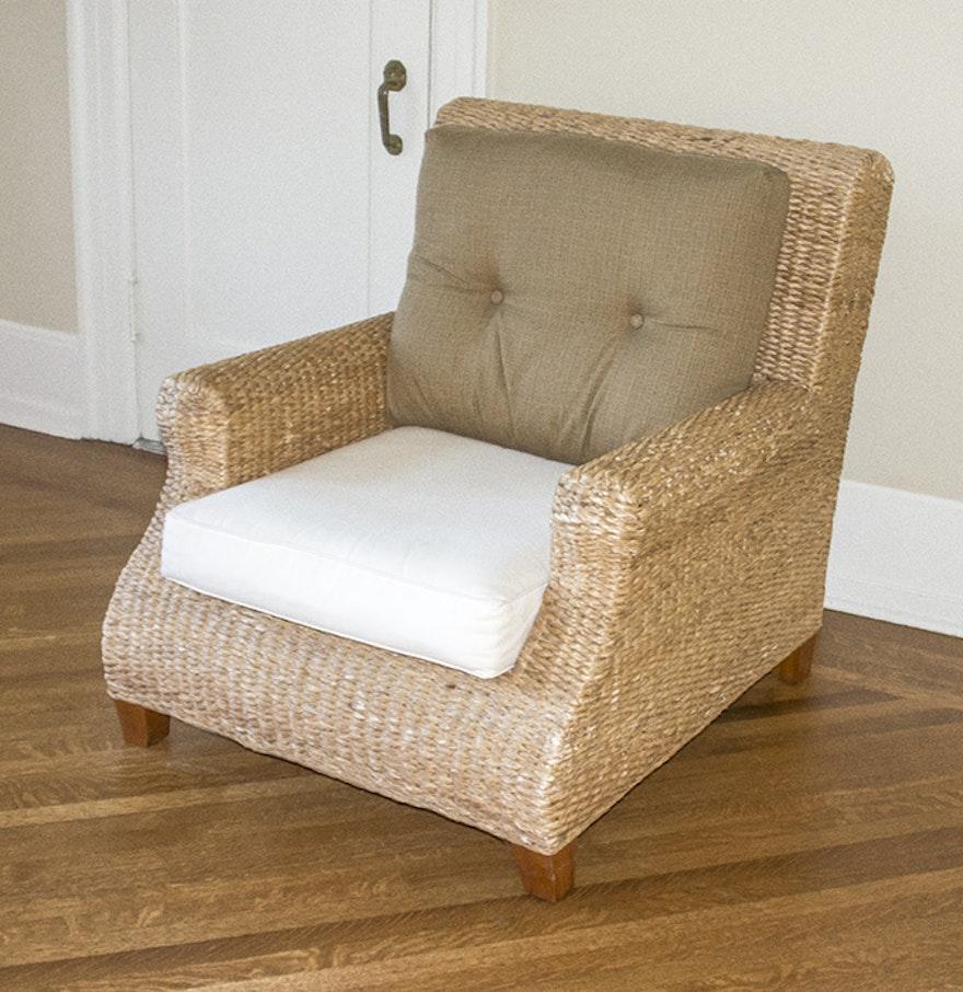 Woven Seagrass Armchair : EBTH