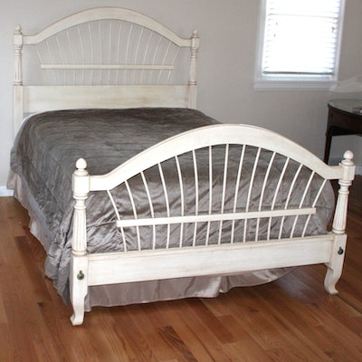 French Country Style King Bed Frame And Nightstands Ebth