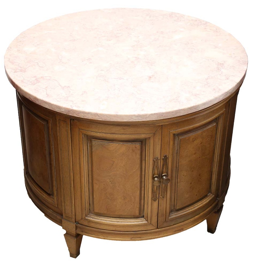 Marble top round side table ebth for Round marble side table