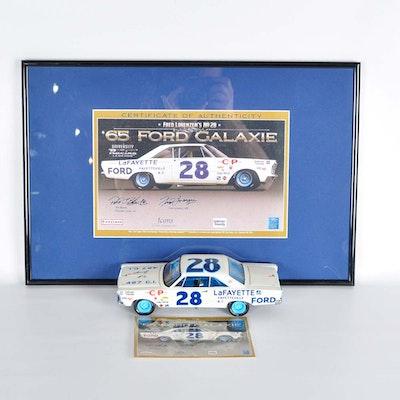 Signed Die-Cast Fred Lorenzen '65 Ford Galaxie