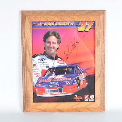 John Andretti Autographed Photographic Print